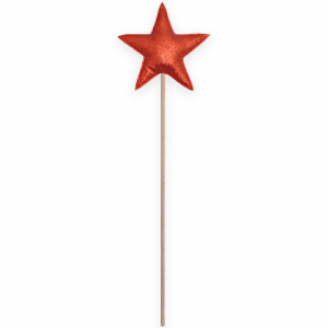 Magic wand star - Red